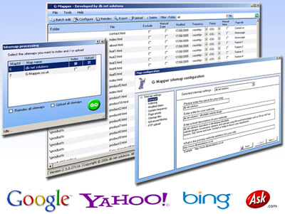 G-Mapper, compatible with google, yahoo, bing, ask and more...